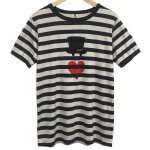 Bohemians(ボヘミアンズ) [Unisex] BORDER S/S TEE LOVE HAT 5 (BLACK)<img class='new_mark_img2' src='//img.shop-pro.jp/img/new/icons49.gif' style='border:none;display:inline;margin:0px;padding:0px;width:auto;' />