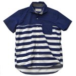 Kelen(ケレン) PANEL BORDER SHIRTS 'MACHLER' (BLUE)<img class='new_mark_img2' src='//img.shop-pro.jp/img/new/icons49.gif' style='border:none;display:inline;margin:0px;padding:0px;width:auto;' />