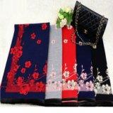 可愛い花柄 カシミヤ風 ブランケット/ショール