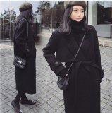 大きいサイズ ベルト付き テーラード ロングコート
