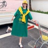 韓国Style ストール風ゆったりロングワンピース