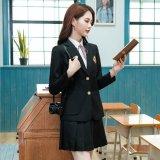 L-5L 2色 清純派 学生服風 スーツ 3点セット