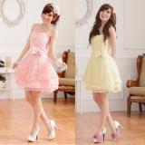 大きいサイズ☆ふんわりチュール♪CUTE姫系ベアトップドレス