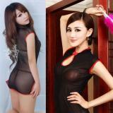 大きいサイズ☆チャイニーズドレス風☆透けセクシーインナードレス
