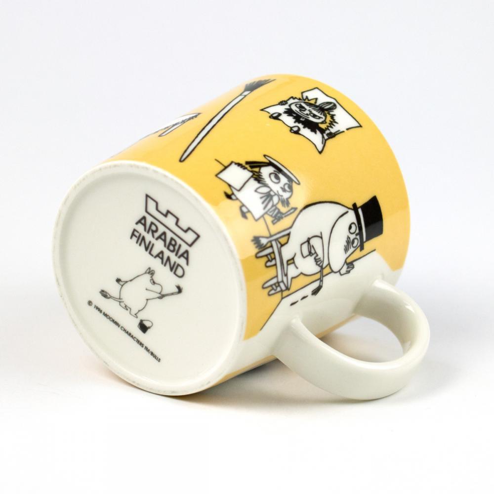 ムーミン マグカップ 「オフィス (Office)」[ダークイエロー][ヴィンテージ 1996〜2002]