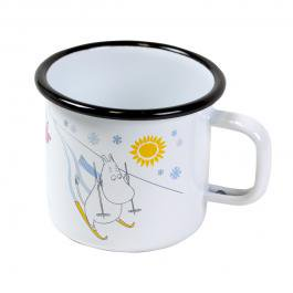 ムーミンホーロー製マグカップ muurla ホワイト