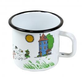ムーミンホーロー製マグカップ muurla ホワイト ムーミンハウス