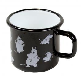 ムーミンホーロー製マグカップ muurla ブラック