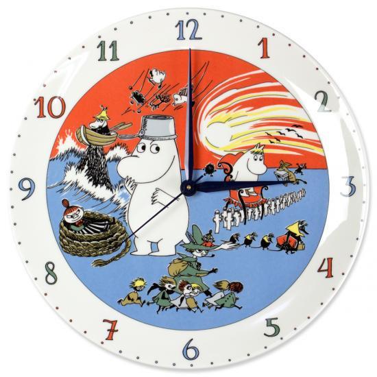 ムーミンキャラクター壁掛け時計