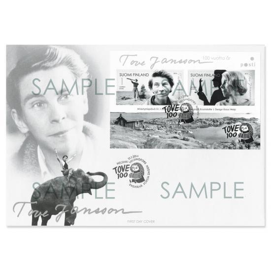 トーベ・ヤンソン生誕100周年記念切手パッケージ