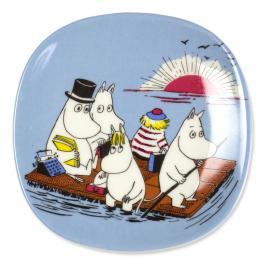 ウォールプレート 2-3 Moomin Family on a float「ムーミン一家の船旅」91-97年