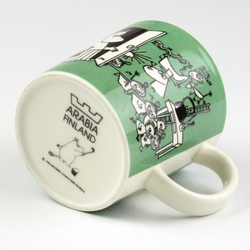 ムーミン マグカップ 「Drawing」[ダークグリーン][ヴィンテージ 1996〜2002]