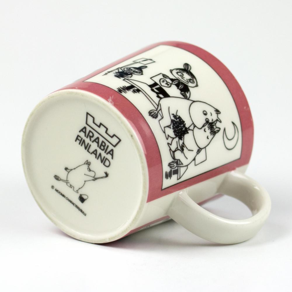 ムーミンマグカップ ヴィンテージ/ローズ1990-1993