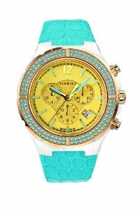 Versace(ベルサーチ)Women's 28CCP12D585 S535 DV One Cruise Ceramic & Rose Gold Ion-Plated with Top…