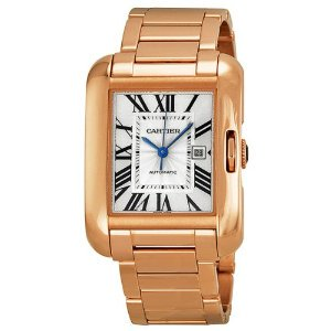Cartier(カルティエ)Tank Anglaise Silver Dial 18kt Rose Gold Ladies W5310003,
