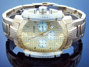 Aqua Master(アクアマスター)Yg Face 22 Diamonds Stainless Steel Band Yellow Gold