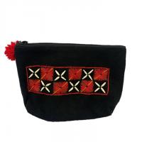 Thai Tribal Crafts カレン族のポーチ 黒