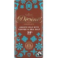 【Divineフェアトレードチョコレート】トフィー&シーソルト・ミルク  90g