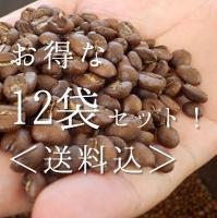 【送料込!】 お得な焙煎コーヒー12袋セット《直送》
