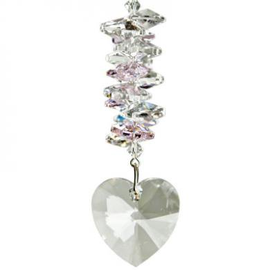 Crystal Heart Cascade - Rose