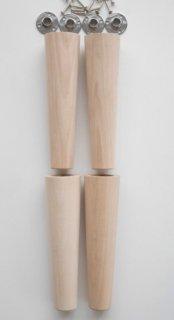 《現品限り》55φー35φ木製テーパー脚 取り付け金具付き