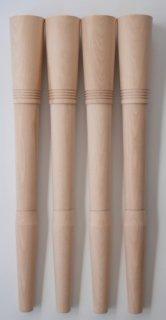 85φー35φ木製テーブル脚GROOVE 取り付け金具付き4本セット
