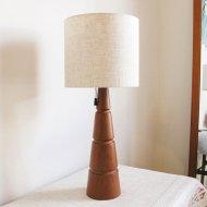 チーク テーブルランプ(L)/照明/北欧ヴィンテージ (2)