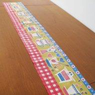 【お客様お取り置き】キッチンのテーブルランナー/95×7.2/北欧ヴィンテージファブリック (1)