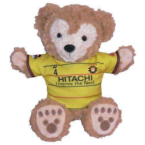 ダッフィー 服 パペットサイズ用 柏の2015年黄色のユニフォーム風 ダッフィーのコスプレ服  衣装  サッカー 番号ネーム指定可