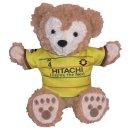 ダッフィー/パペット用 柏の2015年黄色のユニフォーム風コスプレ衣装/サッカー ※番号・ネーム指定可