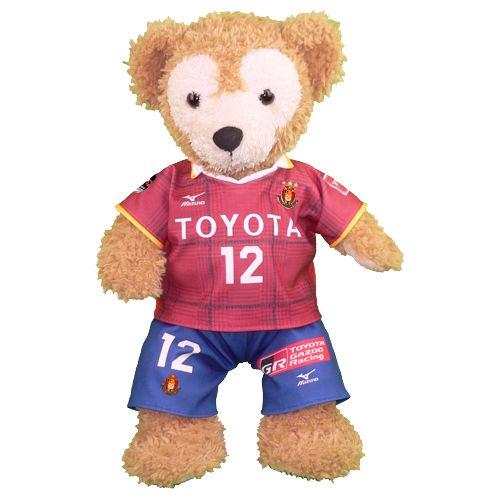 ダッフィー/Sサイズ用 名古屋のサッカーチーム ホームの赤いユニフォーム2017年版のコスプレ衣装