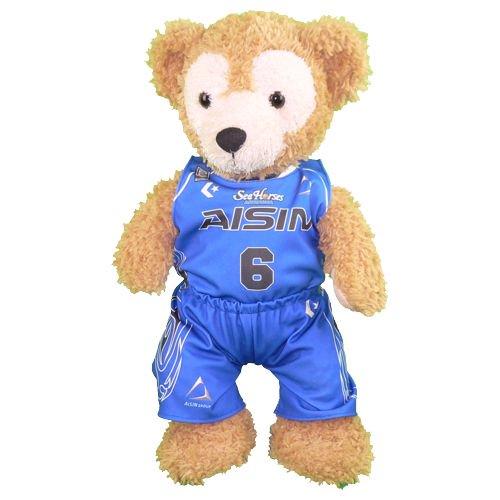 ダッフィー 服 Sサイズ シーホース三河のユニフォーム風 ダッフィーのコスプレ服 衣装 バスケットボール 番号ネーム指定可