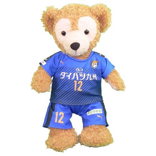 ダッフィー 服 Sサイズ 大分の2017年の青いユニフォーム風 ダッフィーのコスプレ服 衣装 サッカー 番号ネーム指定可