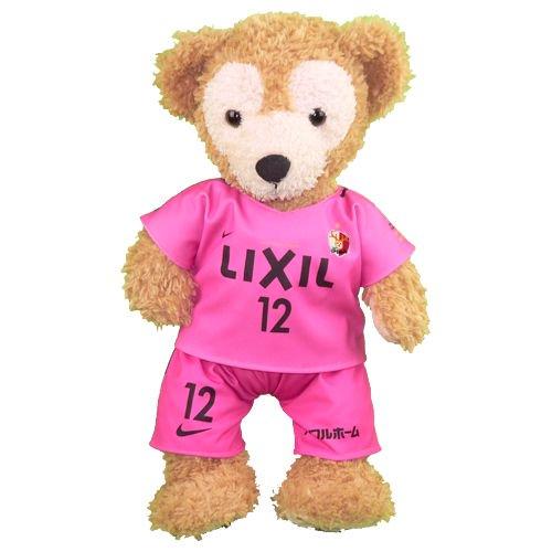 ダッフィー/S用 鹿島の2017年ホームのピンクのユニフォーム風コスプレ衣装/サッカー ※番号・ネーム指定可