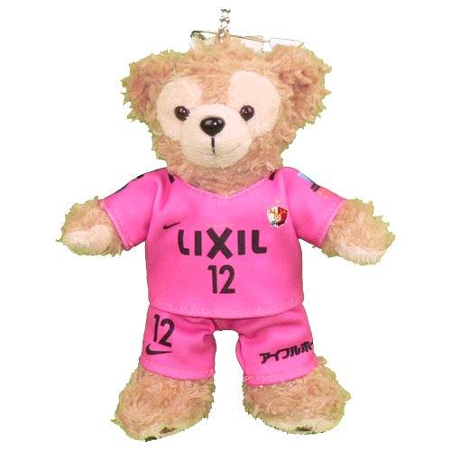 ダッフィー/ぬいバ用 鹿島のサッカーチームの 2017年のピンクのユニフォームのコスプレ衣装 ※番号・ネーム指定可