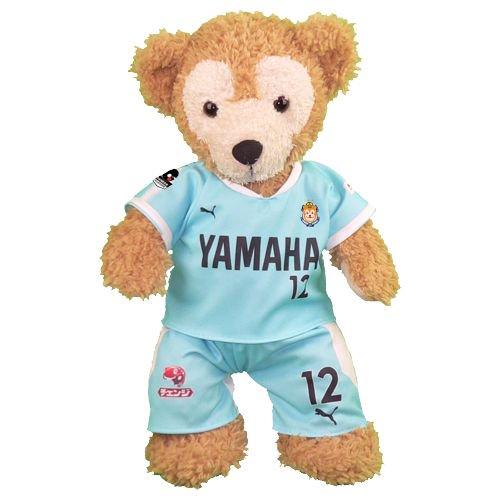 ダッフィー 服 Sサイズ 磐田の2017年ホームの水色のユニフォーム風 ダッフィーのコスプレ服 衣装 サッカー 番号ネーム指定可