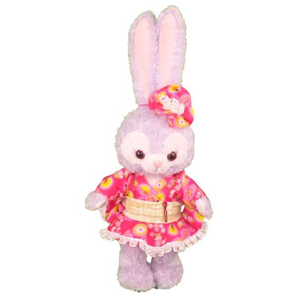 ステラ・ルー - S(座った高さ約43cm)用 ピンクの花火や花柄がかわいい浴衣風の衣装 - 浴衣シリーズ - その1