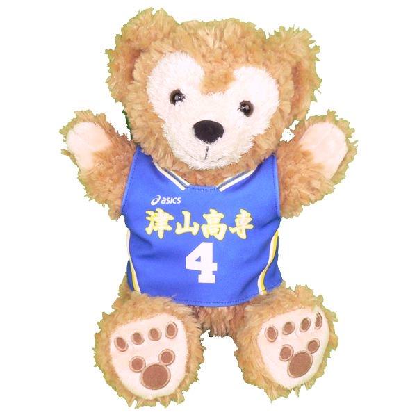 ダッフィー 服 パペット 津山の青いユニフォーム風 ダッフィーのコスプレ服  衣装  バスケットボール  番号・ネーム 指定可