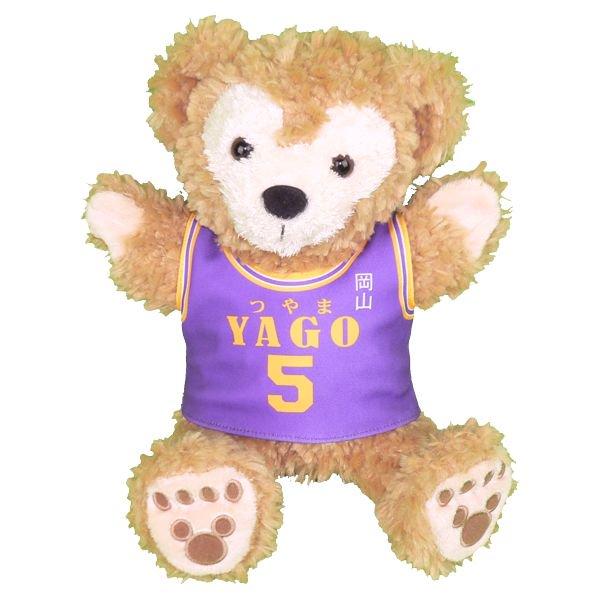 ダッフィー 服 パペット 津山の紫ユニフォーム風 ダッフィーのコスプレ服  衣装  バスケットボール  番号・ネーム 指定可