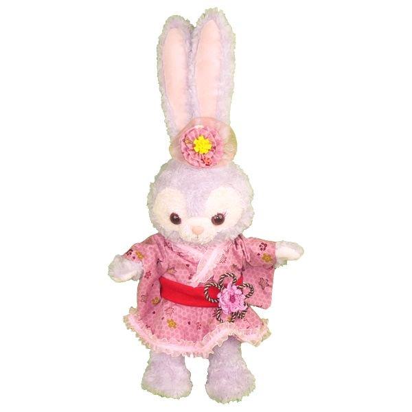 ステラ・ルー | S(座った高さ約43cm)用 | ピンクと花柄が可愛い着物風衣装のぬいぐるみの衣装