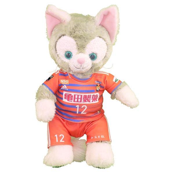 ジェラトーニ Sサイズ 新潟の2019年オレンジのユニフォーム風 ジェラトーニのコスプレ服 衣装 サッカー 番号ネーム指定可