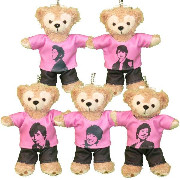 ダッフィー 服 ぬいバサイズ オリジナルTシャツセット ピンク シャツ5種とズボンの組み合わせ ダッフィーのコスプレ服 衣装