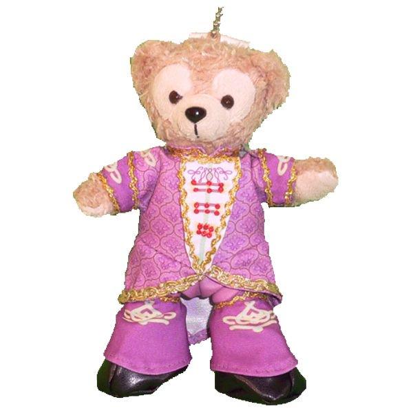 ダッフィー 服 ぬいバサイズ ピンクのドリーミングアップ男性ダンサー風 ダッフィーのコスプレ服 衣装 TDL