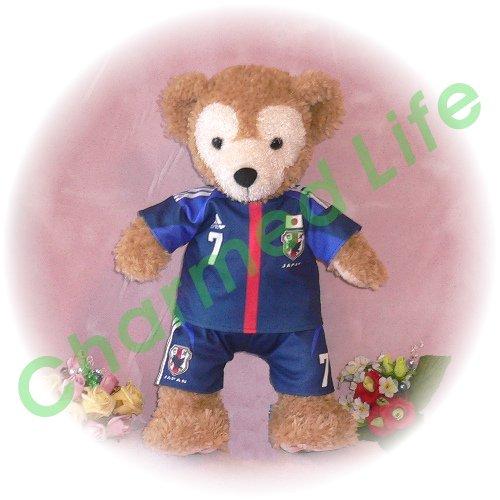 ダッフィー 服 Sサイズ 日本 2012-13年のユニフォーム風 ダッフィーのコスプレ服 衣装 サッカー 番号ネーム指定可