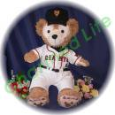 ダッフィー 服 Sサイズ 東京の2014年ユニフォーム風 ダッフィーのコスプレ服  衣装  野球 番号ネーム指定可