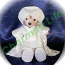 ダッフィー/S用 白無垢風コスプレ衣装/ウェディングドール/ウェルカムドールドール/着物