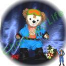 ダッフィー 服 Sサイズ 青のジャケットセット風 ダッフィーのコスプレ服  衣装  ONE PIECE パウリー