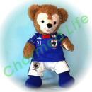 ダッフィー 服 Sサイズ 日本 2011年のユニフォーム風 ダッフィーのコスプレ服 衣装 サッカー 番号ネーム指定可