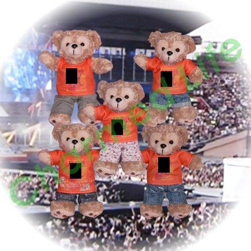 ダッフィー(ぬいバ) 2012 オレンジのツアーシャツセット(5人セット売り)
