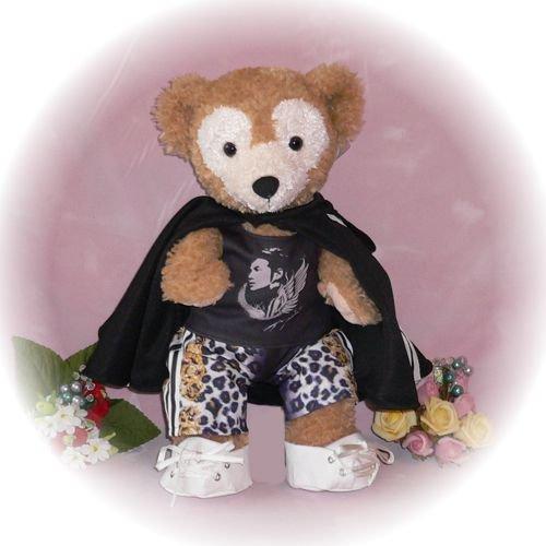 ダッフィー 服 Sサイズ マント付き、豹柄ズボンの衣装セット風 ダッフィーのコスプレ服  衣装  チャン・グン クリショー2 アンコール K-POP